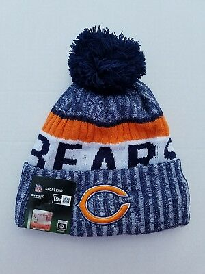 first rate c3197 be5b0 ... top quality chicago bears new era 2017 nfl sport knit cuffed hat with  pom graphite for