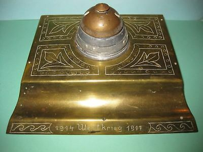 German Eastern Front Russia Trench Art Fuze  Ink Well