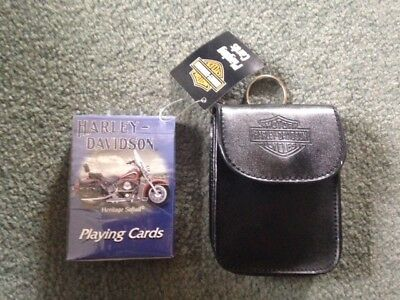 Harley Davidson Playing Cards with Carrying Case - Brand New