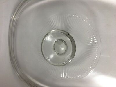 Pyrex Clear Glass Oval Replacement Lid - DC 1.5C Ribbed By Handle