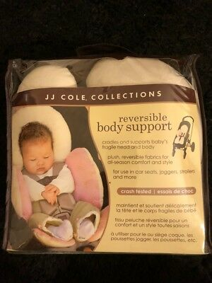 Infant Reversible Body Support For Car Seats JJ Cole Pink Stroller Baby