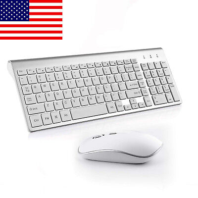 Quiet Wireless Rechargeable Keyboard and Mouse Combo for PC Laptop And More US