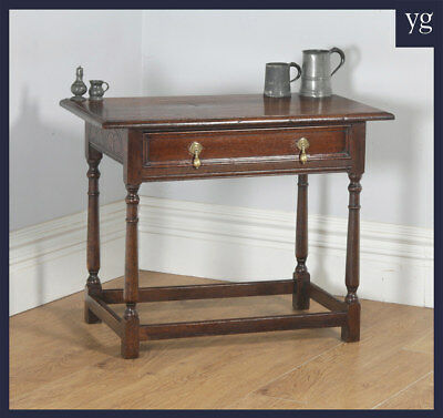 Antique English Georgian George III Oak Occasional Side Hall Writing Table c1820