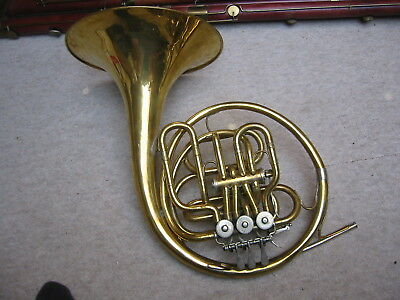 """Nice old & odd 4 V. compensation doublehorn frenchhorn """"Lidl Acustic 1a"""" Bb/f"""