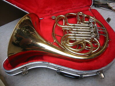 """vintage rot.4V French double horn """"Anborg Como"""" needs service"""