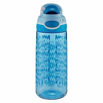 Contigo AUTOSPOUT Chug 20oz Kids' Plastic Water Bottle, Blue School Boy, Tritan