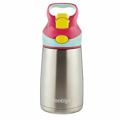 Contigo AUTOSPOUT Straw Striker Chill Stainless Kids Bottle 10oz Cherry Blossom