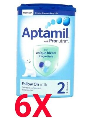 6x Aptamil Follow On Milk Stage 2