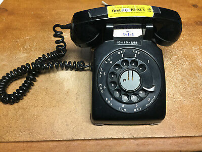 Vintage Bell System Western Electric Black Rotary Desk Telephone 1953 C/D 500