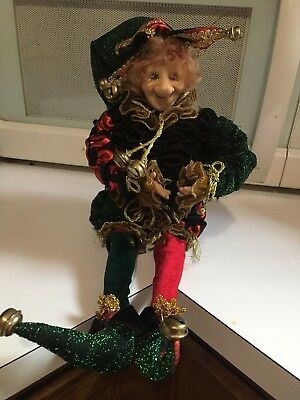 Christmas Jester Joker  Doll, 16""