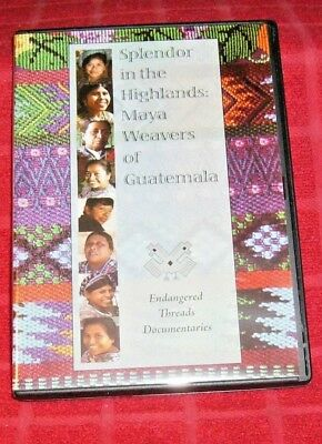 MAYA WEAVING OF GUATEMALA: Back Strap, Floor Loom, Ikar, Jaspe Dye: DVD