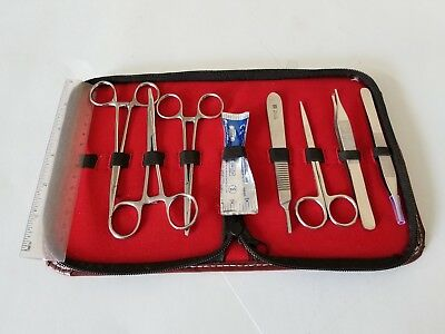 Minor Surgery Set 8 Pieces Surgical Instruments kit Stainless Steel Brand New