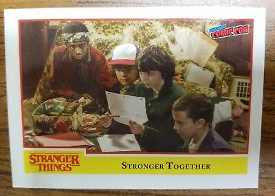 RARE NYCC 2018 Exclusive Topps Stranger Things Promo trading card NYCC-4