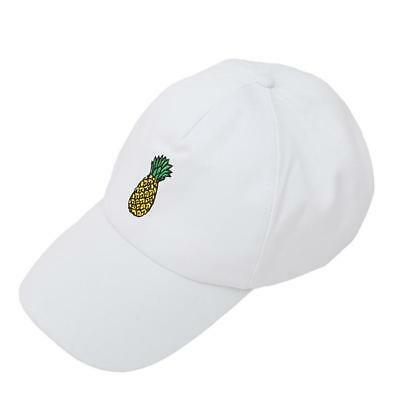Pineapple Embroidery Baseball Cap Cotton Fruit Pineapple Dad Hat Hip Hop 8C