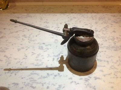 Rare Wesco Vintage Oil Can With Folding Spout VGC