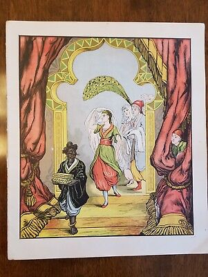 Antique Book Pages Aladdin or the Wonderful Lamp