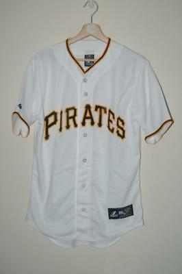 Bnwt White Majestic Pittsburgh Pirates Baseball Jersey Small Mens