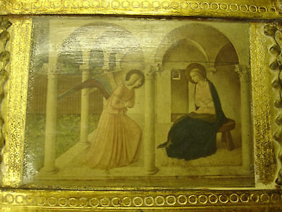 Vintage Religious Italian Icon Beautiful inside Old Antique after Fra Angelico