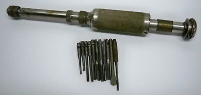 VINTAGE STANLEY No.41 North Bros. Mfg. PUSH DRILL WITH 11 BITS