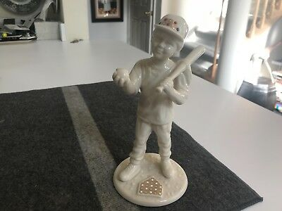 "SUPERB 8 1/8"" Lenox USA CHINA JEWELS BASEBALL BOY Figurine MINT CONDITION"
