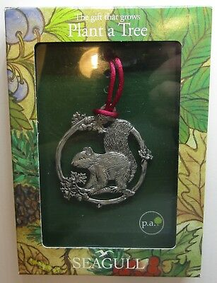 ~ Seagull Pewter ~ Christmas - Squirrel Plant a Tree Ornament