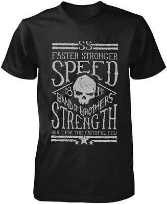 Speed & Strength Men's Band of Brothers Black Graphic Short Sleeve Tee T-Shirt