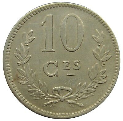 (A77) - Luxemburg Luxembourg - 10 Centimes 1924 - Charlotte - VF - KM# 34
