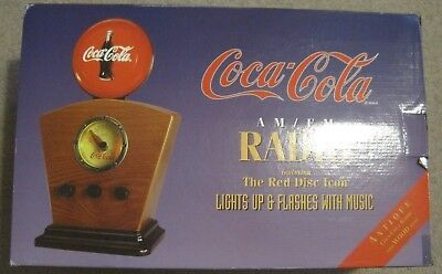 Vintage Coca Cola 1934 Style RED DISC Icon AM/FM Radio - NEW