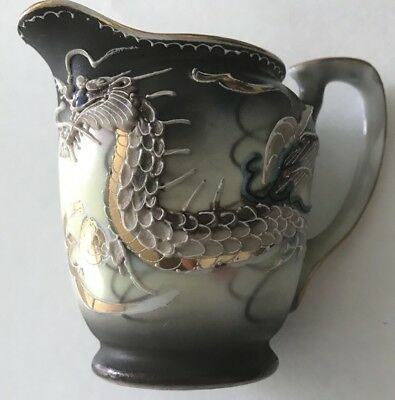 Blue Eyes Dragon Moriage Dragon Ware Creamer Fairyland China Hand Painted Japan