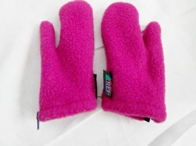 REI Kids Juniors Infant Childrens Toddlers FLEECE Mittens Gloves BERRY PINK XS B