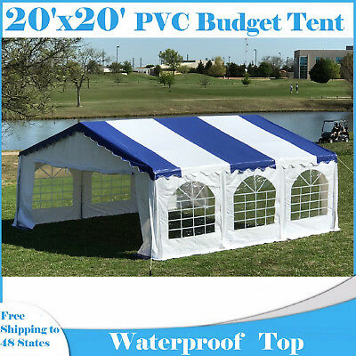 20'X20' BUDGET PVC Wedding Party Tent Canopy Shelter - White