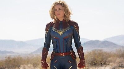 Captain Marvel - Comic Book Movie 2019 Art Large Poster / Canvas Pictures