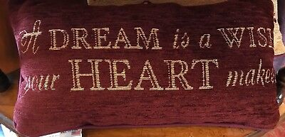 Disney Parks Cinderella A Dream is a Wish Your Heart Makes Throw Pillow - New