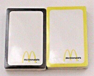 Vintage 1970's McDonald's Playing Cards *2 Sealed Deck's*
