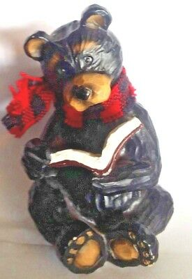 Bible Reading Bear Figurine