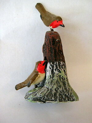 Vintage German Christmas Putz Birds on Tree With Nest; Mint!