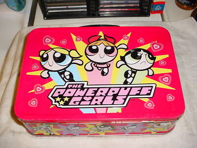 Rare Large Metal Lunchbox Tin The Powerpuff Girls 2000 Cartoon Network
