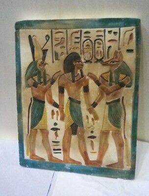 RARE ANCIENT EGYPTIAN ANUBIS and HORUS and RAMSES II 1457-1265 BC