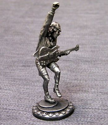 Ac/dc - Angus Young - Beautiful , Fine Detailed , Tin Metal Figure - Mint