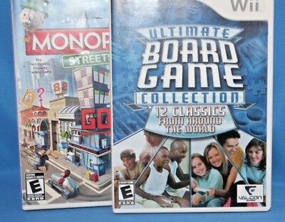 Lot of 2 Wii Games: Monopoly Streets and Ultimate Board Game Collection