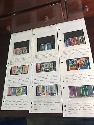 St Helena MNH VF Collection Full Sets Ships Bugs Military Napoleon Scouts