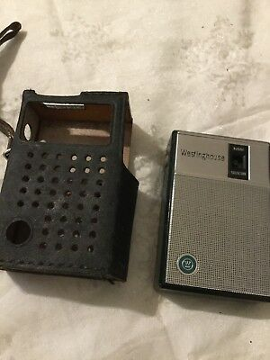 Vintage Westinghouse Pocket Transistor AM Radio H-902P6-GP Charcoal Blue