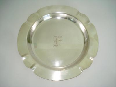 """ART DECO STERLING SILVER SERVING TRAY 1930s LW549 EXC COND 9.5"""""""