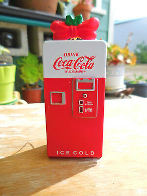 Vintage 1994 Coca Cola Ornament Vending Machine Mischief Polar Bear Collection