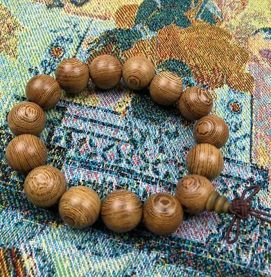 China Thuja gold nanmu wood Buddha beads bracelet
