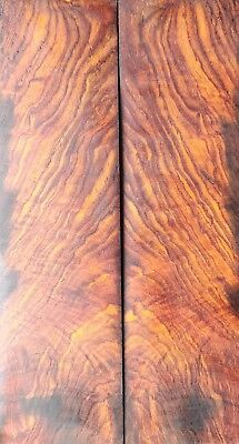 High Figure Nicaraguan Cocobolo Rosewood Burl Knife Scales Extra Large