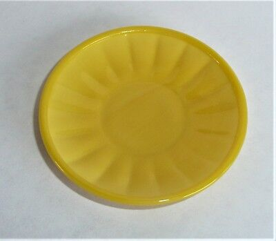Akro Agate Small Interior Panel Yellow Saucer ~ Child Tea Set~ several available