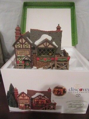 Department 56 - Dickens Village: Three Christmas Buildings and Four Accessories