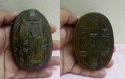 RARE ANCIENT EGYPTIAN ANTIQUE SCARAB Carved Stone 1798-1569 BC