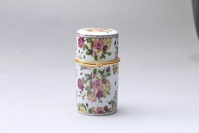 exquisite Chinese painting flower porcelain Toothpick box   af76
